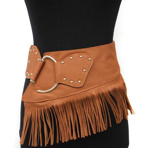 WOMEN ELASTIC Gold Metal WAIST HIP Stretch Gipsy Bohemian Belt Western Fashion