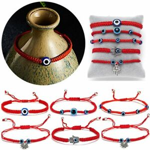 Adjustable-Red-String-Evil-Eyes-Lucky-Red-Cord-Bracelet-Handmade-Bangle-Jewelry