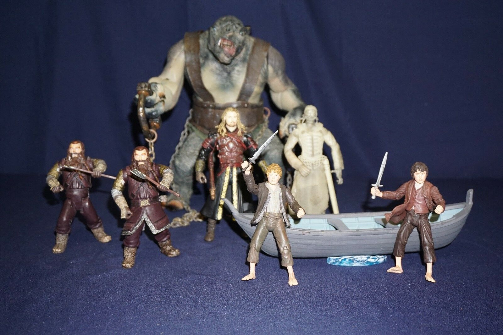 LORD OF THE RINGS ARMOROT TROLL EOMER FRODO SAM WISE KING OF DEAD BOAT STING