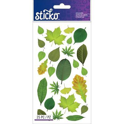 Scrapbooking Crafts Stickers Sticko Different Types Leaves Maple