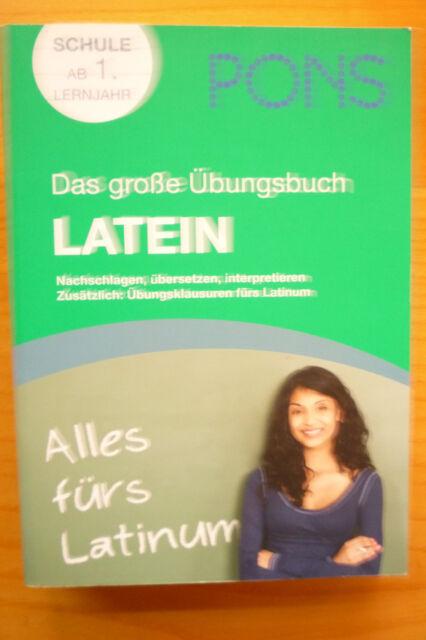PONS Das große Übungsbuch Latein (2010, Taschenbuch), neuwertig ISBN 97831256155