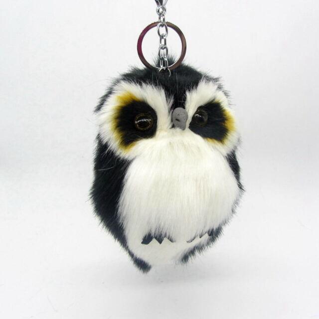 15cm Cut Fluffy Owl Keychain   Pendant Womens Key Ring Holder Faux ... 58d021ac6