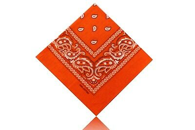 Bandana Scarf Nickituch Kopftuch Cotton Wolle Travel Reisen Schal Paisley Orange Attraktive Mode