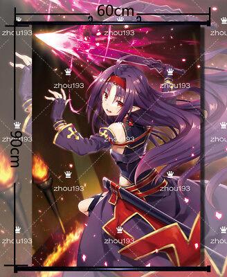 Anime Sword Art online Yuuki Asuna Home Decor Wall Scroll Poster 60*90CM