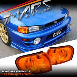 Jdm Amber Side Corner Parker Lights For Subaru Impreza 93 00 Gc8 Gf8 Wrx Sti Rx Ebay