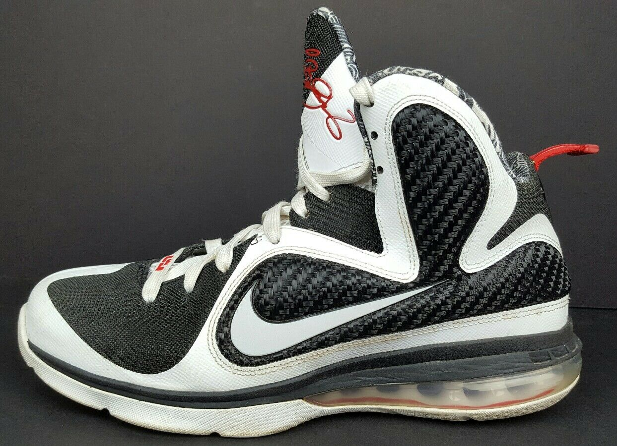 Nike Lebron 9 IX Mens Size 8.5 Freegums Black White Athletic ... 61aec1564