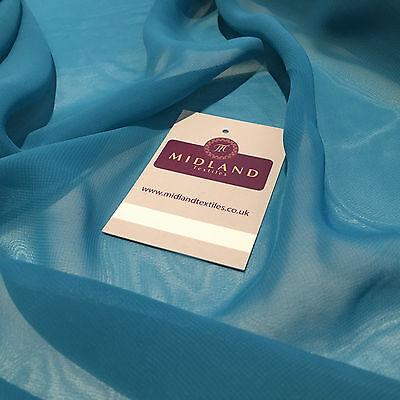 """Hi-Multi Caress Chiffon Sheer Fabric Semi-Transparent 42"""" M608 Mtex"""