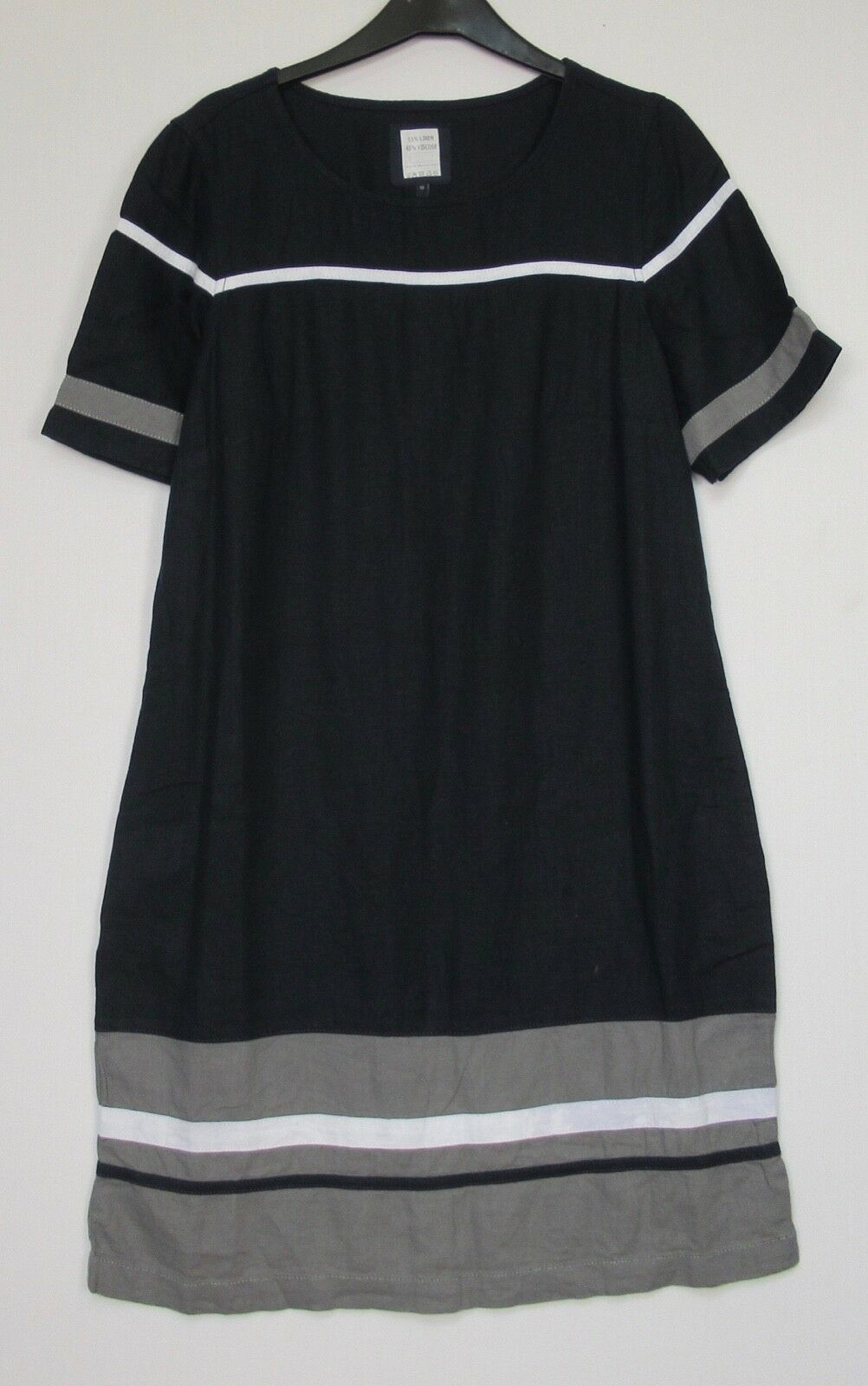Next Navy  Colourblock Linen Blend Tunic Dress - 6 - 18 Petite