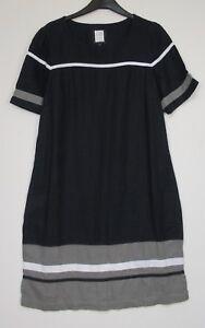 Next-Navy-Colourblock-Linen-Blend-Tunic-Dress-6-18-Petite