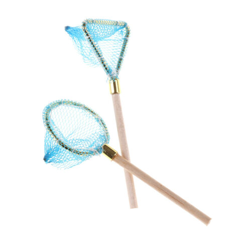 Dollhouse Miniature Wood Fishing Net Life Scene Decoration Outdoor Sports ToyLES