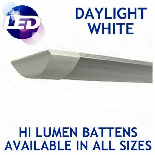 12x High Lumen 4ft LED Tube Ceiling Strip Light Fitting 6000K Daylight Lamps