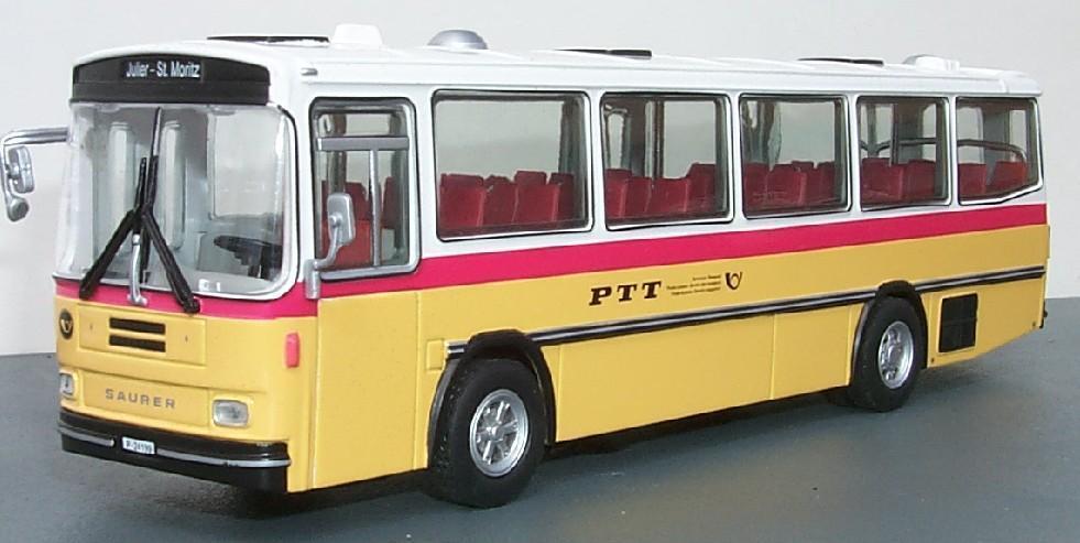 Saurer RH525-23 Omnibus IV PTT  Julier - St. Moritz  (Tek-Hoby 1 50   5401)