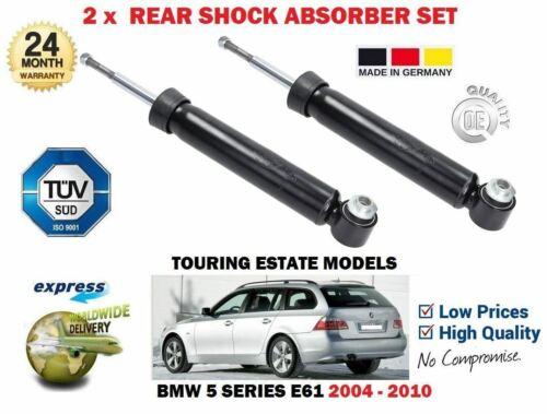 FOR BMW E61 520D 525D 530D 535 TOURING 2004-/> 2X REAR SHOCK ABSORBER SHOCKER SET