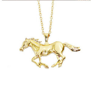 Unisexs gold horse chain stainless steel hot men pendant new image is loading unisex 039 s gold horse chain stainless steel aloadofball Image collections