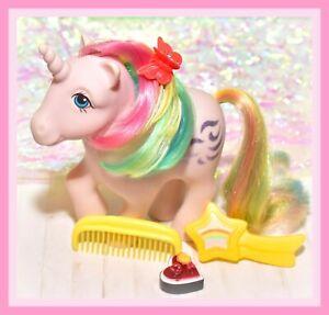 ❤️My Little Pony G1 Vtg Rainbow Ponies WINDY Unicorn & Original Brush Comb❤️