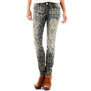 100% QualitäT Aufdruck Skinny Jeans Sacred Virtue Msrp Neu Dunkel Stein Größe 5