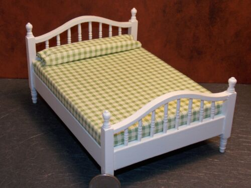 Dollhouse Miniature Double Bed White 1:12 one inch scale K78 Dollys Gallery