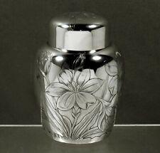 Gorham Sterling Tea Caddy 1888 JAPANESE