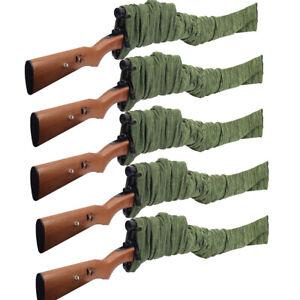 """UK SELLER 52/"""" GUN SOCK SILICONE TREATED SHOTGUN RIFLE SHOOTING BLACK SLIP CASE"""