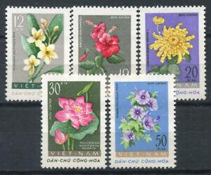 Vietnam-1962-Mi-206-210-Postfrisch-100-Blumen