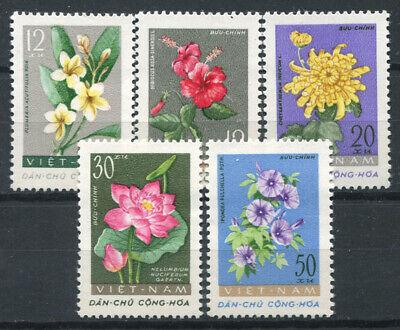 KöStlich Vietnam 1962 Mi. 206-210 Postfrisch 100% Blumen Weich Und Rutschhemmend
