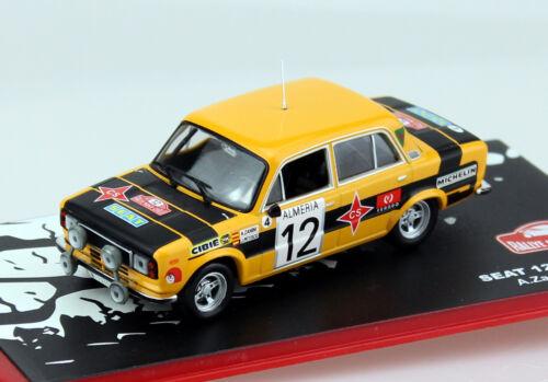 SEAT 124d s1800 Rally Monte Carlo 1977 #12 1:43 Ixo//Altaya modello di auto
