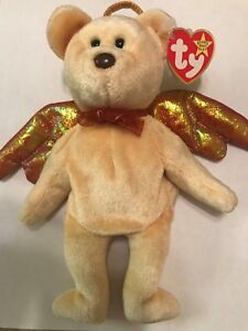 TY BEANIE BABY HALO THE BEAR CUSTOM DYED UNIGUE RARE COLOR WITH ... dbdc54c26d7