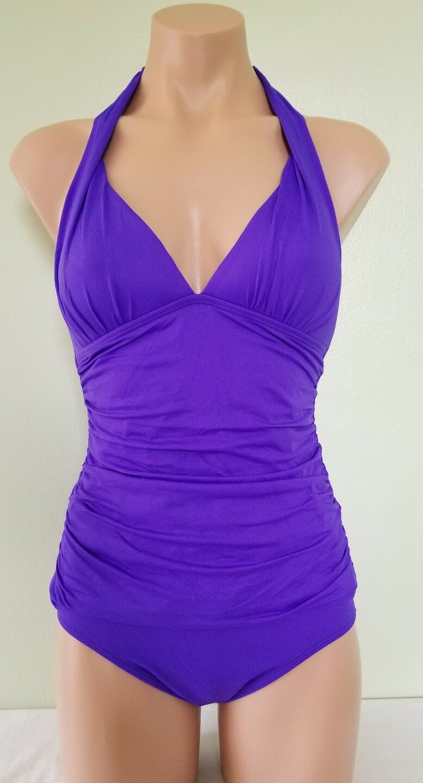 Ralph Lauren purple halter tankini tankini tankini set size 4 3bd276