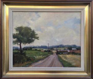 Impressionist-Gustav-Berlin-1905-1988-Sunny-Country-Road-Sweden-50-x-59