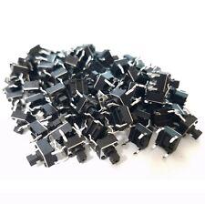 50pcs 6x6x7mm Thru Hole Momentary Tactile Push Switch Button 4 Pin Dip Arduino