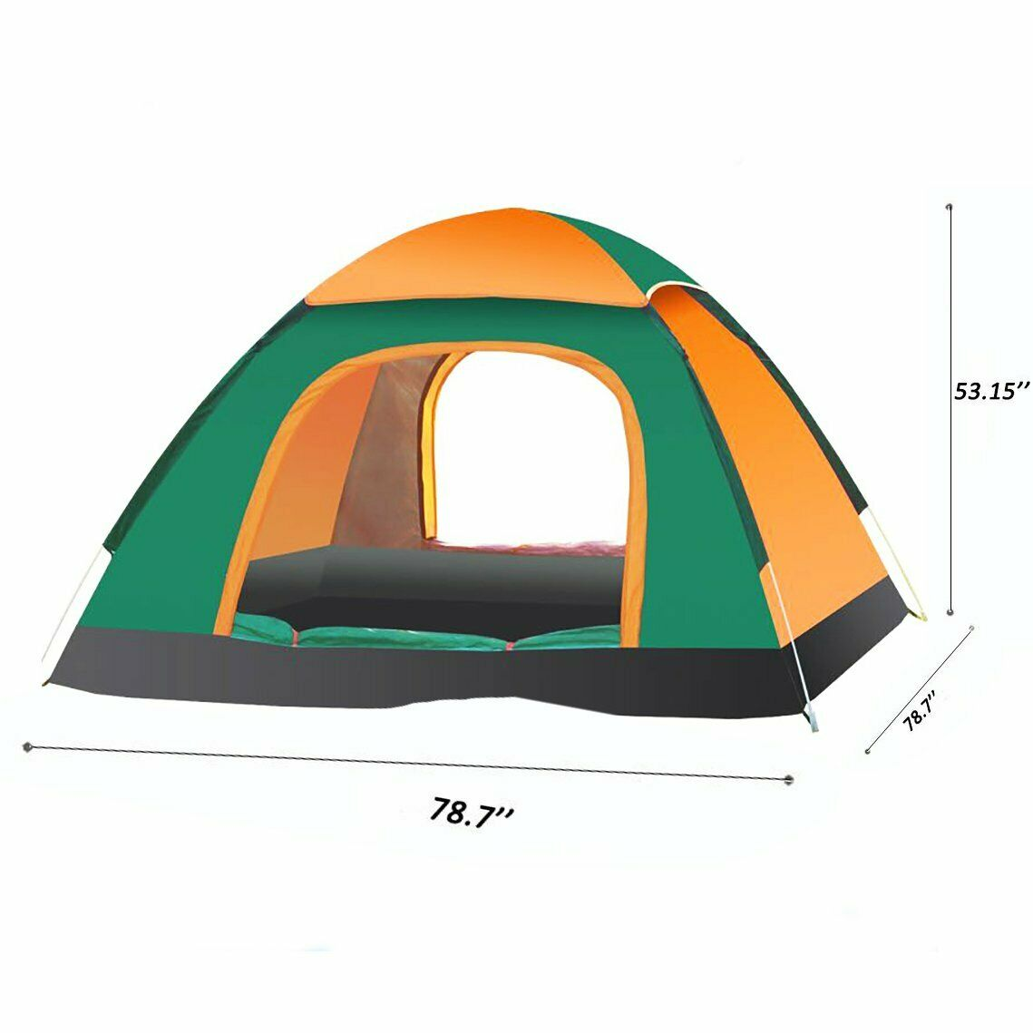 Large 3-4 Person Man Family Tent Camping Group Hiking Tent Canopy Pop Up Tent UK