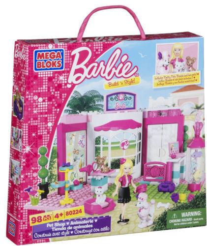 Mega - bloks barbie  bau 'n stil petshop - box verschlossen & ungeöffnet