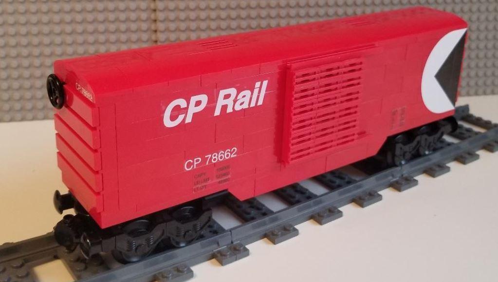 Lego Train Boxcar Canadian Pacific ROT -- PLEASE READ ITEM DESCRIPTION --