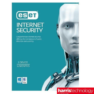 ESET Internet Security 3 Device 1 Year DIGITAL Key Delivery