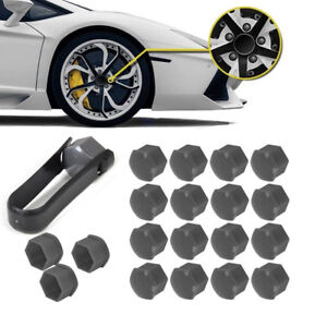 20X-Wheel-Lug-Nut-Center-Cover-amp-Locking-Bolt-Caps-Cover-For-VW-Audi-Skoda-Seat