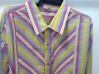 Tulliano Men's Designer Shirt - Rainbow Stripped Big & Tall Sizes & Tags