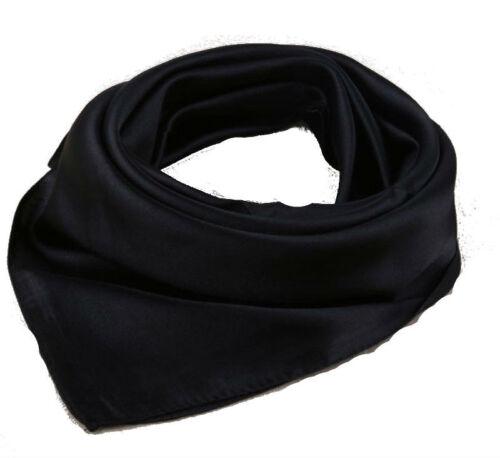 Neue Ware Einfarbig Quadrat Weicher Schal Seidig Halstuch Stirnband Hals Satin