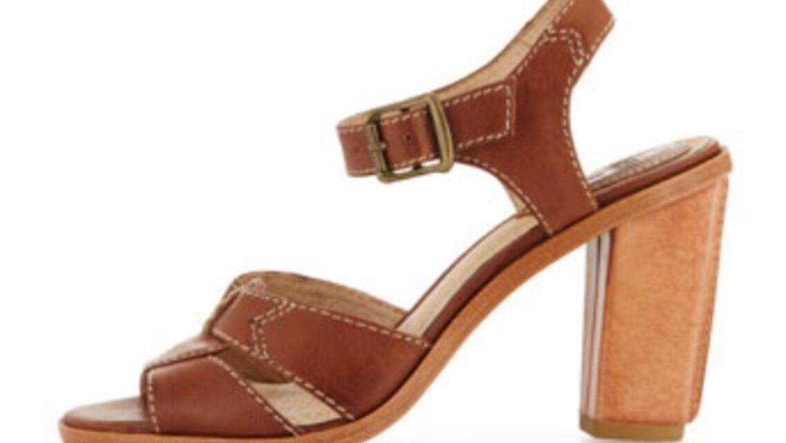 NEW Sofia Frye Sofia NEW Stitch Seamed Sandals / Heels Size 10 Cognac Brown Pelle Stivali 915d11