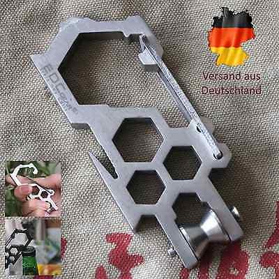 20-in-1 EDC Multitool Schlüsselanhänger Multiwerkzeug Karabiner Survival Tool