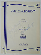 """JUDY GARLAND """"OVER THE RAINBOW"""" SIGNED SHEET MUSIC AUTOGRAPH"""