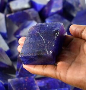 Wholesale Price 1000 Ct African Blue Sapphire Polished Gems Rough Lot Natural