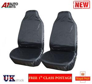 Car-Seat-Covers-Protector-Waterproof-Pair-Front-Universal-Van-Nylon-Heavy-Duty