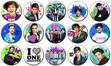"""ONE DIRECTION - Lot of 15 - Pin Back - 1"""" Buttons (One Inch) SET 2"""