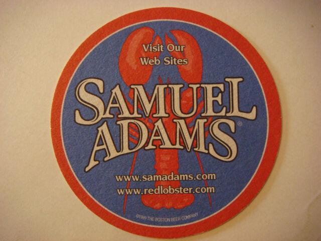 1999 Beer Bar Coaster: Samuel Adams Boston Lager; Red Lobster Seafood Restaurant