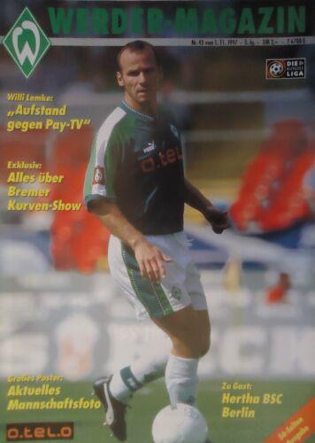 Hertha BSC Programm 1997//98 SV Werder Bremen