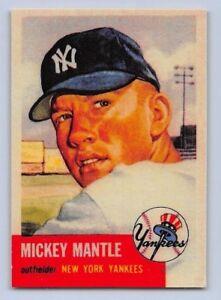 1953-MICKEY-MANTLE-Topps-034-REPRINT-034-Baseball-Card-82-NEW-YORK-YANKEES