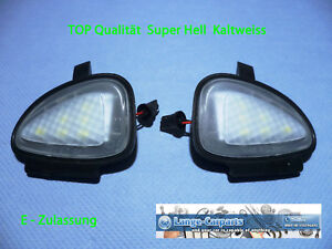 LED-SMD-L-039-Eclairage-de-L-039-Environnement-Froid-Blanc-Tres-Clair-Vw-Seat-Miroir