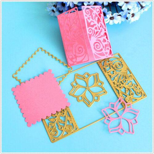 Flower Frame Metal Cutting Dies Stencil Scrapbooking Album Card Paper Craft KI