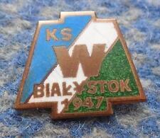 WLOKNIARZ BIALYSTOK POLAND FOOTBALL BASKETBALL CLUB 1970's ENAMEL PIN BADGE
