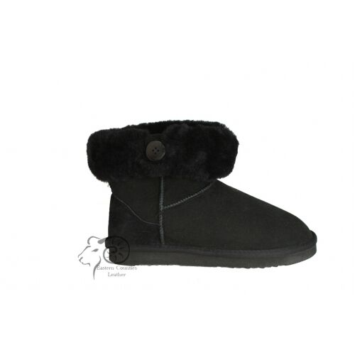 Sheepskin cuff boot ankle with button cuff Sheepskin low 100%sheepskin 8f8c9a